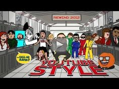 Rewind YouTube Style 2012 - We invited some YouTubers to star in a mash-up of culturally defining moments of 2012. Can you spot all the references?  WATCH THE TOP VIDEOS OF 2012: http://youtube.com/rewind SUBSCRIBE TO http://youtube.com/youtube  Can you name all the YouTube stars in the video? Watch carefully and you might even find a few surprises... (Hint: try moving your mouse around in the player!).  STARRING PSY - http://youtube.com/officialpsy Walk off the Earth…