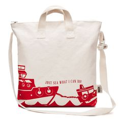 VOYAGER in Red Sea Boat Kids Zipper Tote Bag