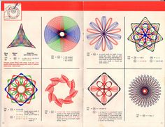 I spent hours and hours making these, with the different colored ink pens.red/black/green/blue inks. Some pens had all 4 inks at once, remember those?  Spirograph!!