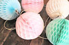 wedding decoration ... honeycomb lantern garland ... by pomtree, $21.00