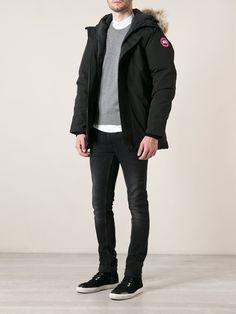 #canadagoose #parka #jacket #black #fur #men #fashion  www.jofre.eu