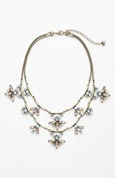 Robert Rose Stone Cluster Tiered Statement Necklace N