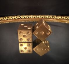 Hey, I found this really awesome Etsy listing at https://www.etsy.com/listing/225575894/pair-of-solid-brass-die-dice-gambling