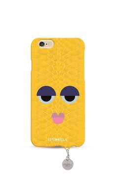 IPHORIA COLLECTION Monster Yellow Snakeskin mit Jewelery Mold zum Personalisieren für iPhone 6/6s 1
