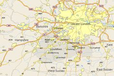 addlestone map surrey showing major roads also a street map of addlestone england uk