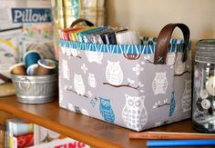 Goodness, I am just so excited to share this little project! I'm a storage and organization junkie, and of course I love fabric, so combining the two just puts me in a happy place. Making sur…