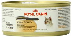 Royal Canin Feline Health Nutrition Intense Beauty Loaf In Sauce canned cat food -- More info could be found at the image url. (This is an affiliate link and I receive a commission for the sales)