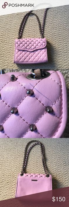 Rebecca Minkoff quilted cross body Brand new but small pen stain on corner but is barely noticeable $200TV Rebecca Minkoff Bags Crossbody Bags