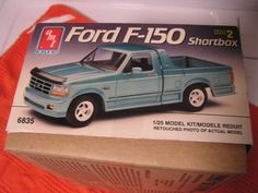 AMT Ford F-150 Shortbox    1:25 Scale plastic model kit #6835    Opened box    Engine painted assembled | Shop this product here: spreesy.com/eclecticity800/10 | Shop all of our products at http://spreesy.com/eclecticity800    | Pinterest selling powered by Spreesy.com