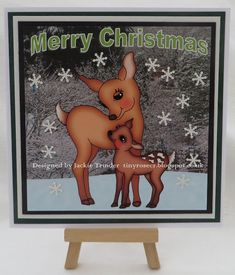 Tinyrose's Craft Room: Made with the Sweet Deer digi stamp from Imagine That Digistamp.