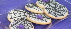 Watch video to see how to make spider web cookies