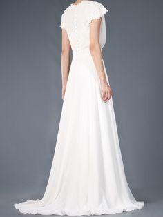 "Emannuelle Junqueira Off White - Vestido de noiva ""Rimini"" branco em seda. 4"