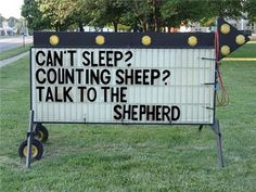 """""""Can't sleep? Counting sheep? Talk to the Shepherd."""""""