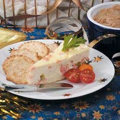 """Smoked Salmon Cheesecake Recipe -""""We live on Kodiak Island off the coast of Alaska, and salmon is one of our favorite foods,"""" writes Becky Applebee of Chiniak, Alaska. """"This elegant dish was the star attraction at the open house we hosted at my husband's business."""""""