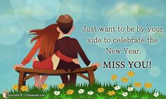 Miss you Happy New Year Cards
