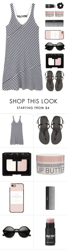 """""""Style Insider"""" by amazing-abby ❤ liked on Polyvore featuring MANGO, Havaianas, NARS Cosmetics, Korres, Casetify, Sephora Collection and Topshop"""
