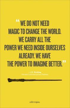 J.K. Rowling Quote Poster via Edutopia