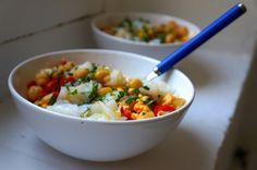 cod, chickpeas and green pepper salad My Favorite Food, Favorite Recipes, Salad Recipes, Healthy Recipes, Peruvian Recipes, Recipe Collection, Summer Recipes, Potato Salad, Food Porn