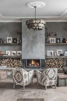 6 Vivid Cool Tips: Interior Painting Ideas Stains interior painting colors rustic.Living Room Paintings To Brighten interior painting colors ideas.Interior Painting With Wood Trim. Home Fireplace, Fireplace Design, Concrete Fireplace, Fireplaces, Concrete Wall, Grey Fireplace, Fireplace Ideas, Living Room Paint, Living Room Decor