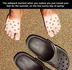 Funny Pictures Of The Day – 32 Pics Pool Slides, Crocs, Sandals, Fashion, Funny, Slide Sandals, Moda, Sandal, Fasion