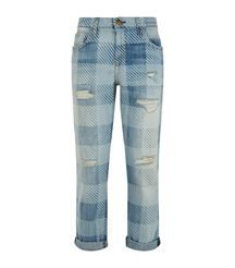 c3d16de9ed175 Current Elliot fling slim plaid boyfriend jeans Double Up, Boyfriend Jeans,  Women Wear