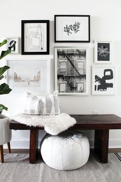 Pinterest: ⤝ ⤞biancaosvat ⤝ ⤞ A neutral entryway makeover with Minted art gallery wall. Interior design inspiration.