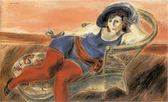 Yasuo Kuniyoshi 国吉 康雄 (Japan 1893-1953 USA) Woman of the Circus at Rest (1931)