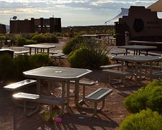 Plastisol Coated Picnic Tables - Grand Canyon.