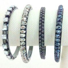 """Bangle Bracelets Set of 4 pretty bangle bracelets. Inner diameter approx 8"""". New without tags. Jewelry Bracelets"""
