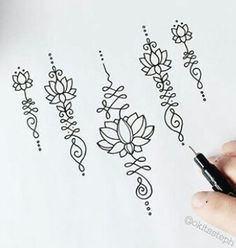 Discover recipes, home ideas, style inspiration and other ideas to try. Mini Tattoos, Body Art Tattoos, Small Tattoos, Tatoos, Unalome Tattoo, Henna Tattoo Designs, Mehndi Designs, Tatuaje Cover Up, Tattoo Muster
