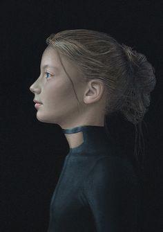 Salustiano Garcia Cruz - Contemporary Artist - Spain - Portrait - Black