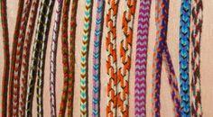 fingerloop braids, loop braiding, instructions, tutorial, video tutorial