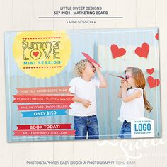 Photography Marketing Board / Mini Session  by LittleSweetDesigns, $8.00