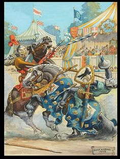 1922 joust illustration by Donn P. Crane