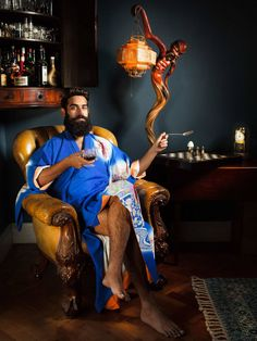 Bearded men in silky kimonos-->We speak to the creator and models behind 2016's most gently masculine and elegant pin-up calendar.