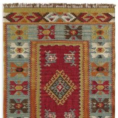 SUMMERHOUSE KILIM RUG - Adapting patterns from old Turkish kilims, village weavers recreate handwoven rugs on primitive looms, handwashing them to soften color and texture. Large Rugs, Small Rugs, Affordable Area Rugs, 8x10 Area Rugs, Cheap Carpet, Modern Carpet, Room Rugs, Rugs On Carpet, Carpets