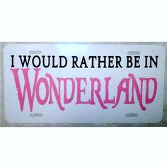 Alice in Wonderland License Plate