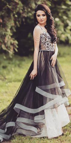 Dark Romance: 24 Gothic Wedding Dresses See more:. Western Wedding Dresses, Princess Wedding Dresses, Colored Wedding Dresses, Dream Wedding Dresses, Bridal Dresses, Wedding Gowns, Glamour, Black White Wedding Dress, Selfies