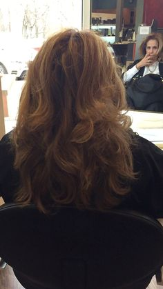 Round brush blow out