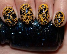 China Glaze Mosaic Madness (Layered Over Nicole by OPI Hit the Lights)