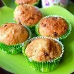 Muffin al farro monococco, mandorle, yogurt, arancia e cioccolato