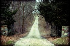 Entrance to the very haunted Aux Sable Cemetery in Minooka, Illinois.
