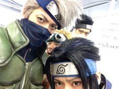 various live spectacle naruto cast selfies aka i have no way of grouping these