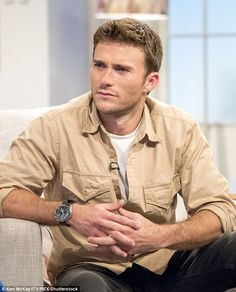 Promoting: Actor Scott Eastwood appeared on Friday's edition of Lorraine to chat about the movie, which is set for release on April 12