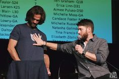 Credit to :Alana King Dean And Cas, Sam And Dean Winchester, Winchester Brothers, Jensen Ackles Jared Padalecki, Jared And Jensen, Supernatural Convention, Supernatural Cast, Good Night Sweetheart, Good Night Dear