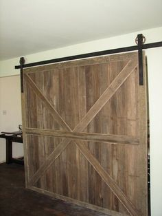 DIYed sliding barn door hardware