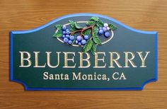 Blueberry Property Sign / Danthonia Designs