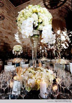 Elegant Wedding Reception Centerpieces | Luxurious Elegant Fabulous Wedding Reception Centerpiece Ideas Pic #1