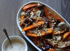 Sweet Potato and Red Onion with tahini and za' atar | From Jessica's Kitchen