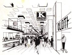 """'Architectural Design"""" magazine from 1963, featuring Geoff Copcutt sketches and montages, and unusual model and plan material from Cumbernauld Town centre."""